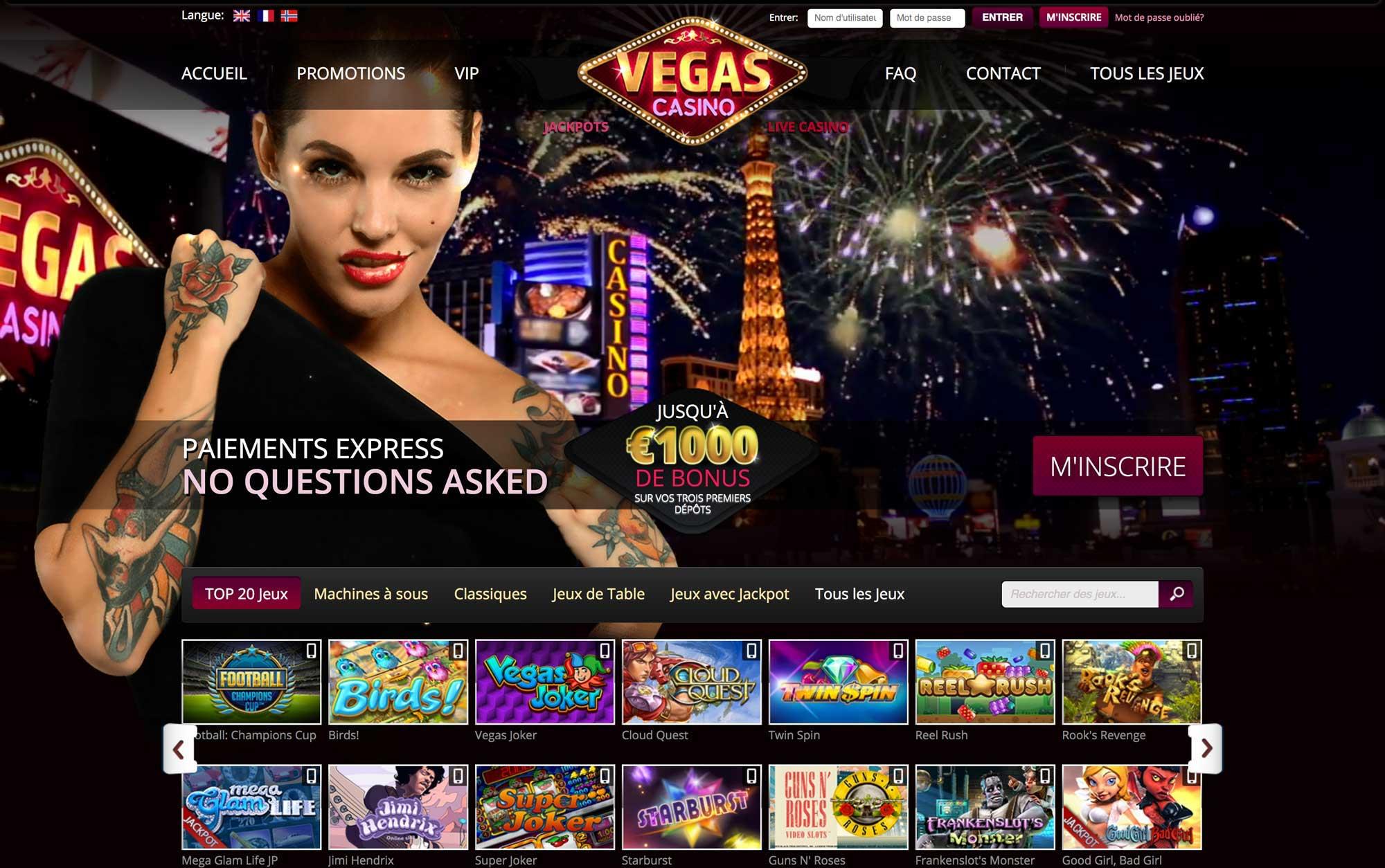 Focus d'avis sur casino vegas plus